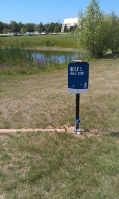 NorthRidge Church, Main course, Hole 5 Tee pad