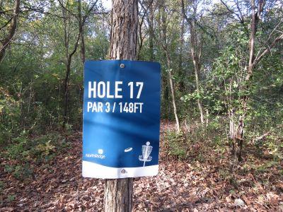 NorthRidge Church, Main course, Hole 17 Hole sign