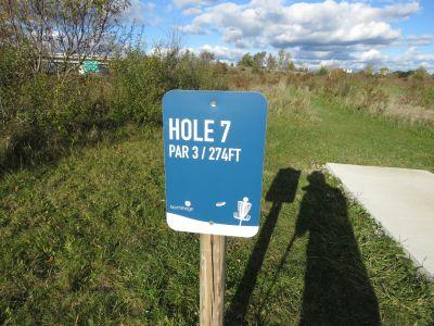 NorthRidge Church, Main course, Hole 7 Hole sign