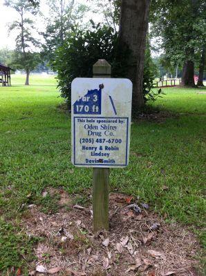 Ivan K. Hill Recreational Park, Main course, Hole 4 Hole sign