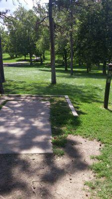 Katherine Legge Memorial Park, Main course, Hole 17 Tee pad