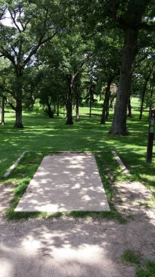Katherine Legge Memorial Park, Main course, Hole 3 Tee pad