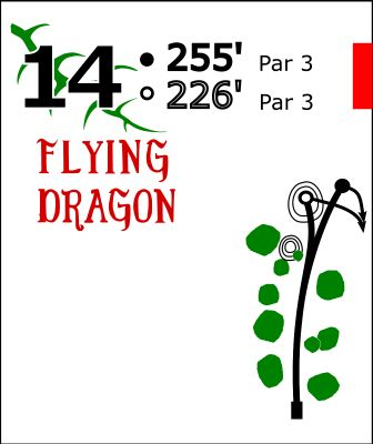 Flying Dragon, Main course, Hole 14 Hole sign