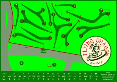 Flying Dragon, Main course, Hole 1 Long tee pad