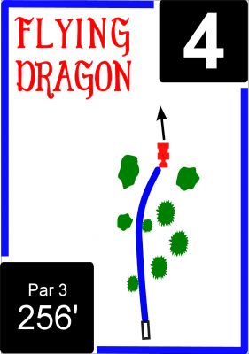 Flying Dragon, Main course, Hole 4 Hole sign