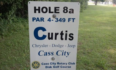 Cass City Park, Main course, Hole 8 Long tee pad