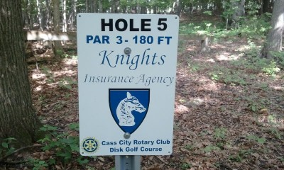 Cass City Park, Main course, Hole 5 Long tee pad