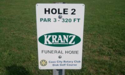 Cass City Park, Main course, Hole 2 Long tee pad