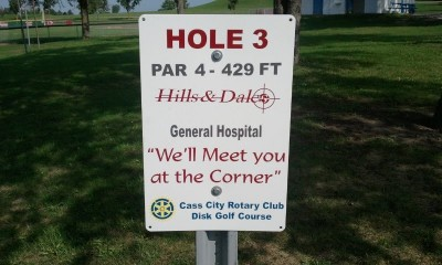 Cass City Park, Main course, Hole 3 Tee pad