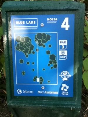Blue Lake Park, Main course, Hole 4 Hole sign