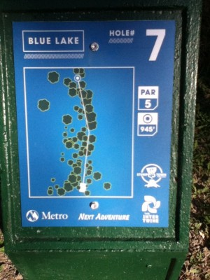 Blue Lake Park, Main course, Hole 7 Hole sign