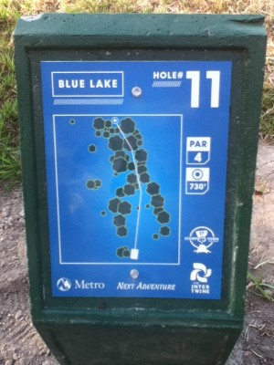 Blue Lake Park, Main course, Hole 11 Hole sign