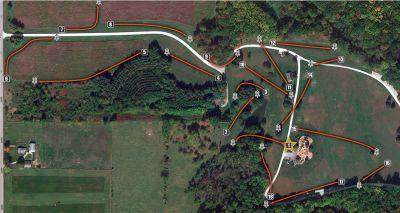Delt Church Park, Main course, Hole 1 Tee pad