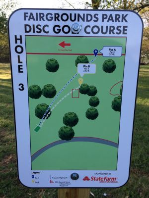 Fairgrounds Park, Main course, Hole 3 Hole sign