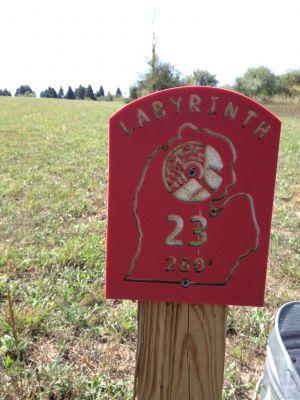 West Shore Community College, Labyrinth, Hole 23 Hole sign