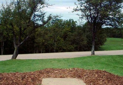 Lincoln Ridge Park, Main course, Hole 1 Tee pad