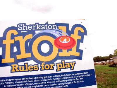 Skerkston Resort, Main course, Hole 1 Hole sign