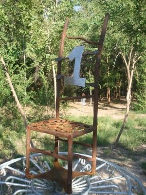 Mae Simmons Park, Main course, Hole 1 Hole sign