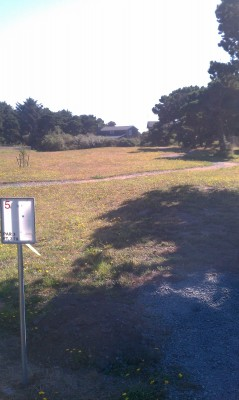 Bandon City Park, Main course, Hole 5 Tee pad