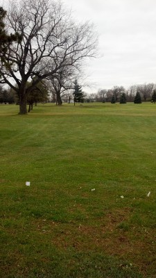 Sunnybrook, Main course, Hole 1 Short tee pad