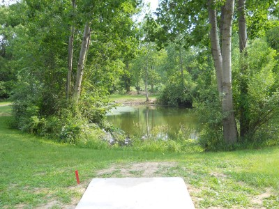 Vicksburg Recreation Area, Main course, Hole 14 Long tee pad