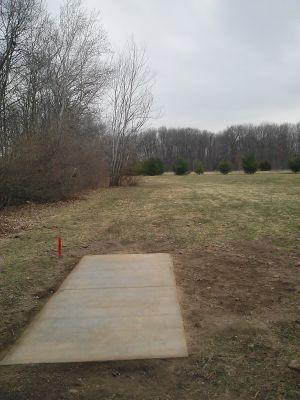 Vicksburg Recreation Area, Main course, Hole 1 Long tee pad