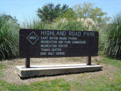 Highland Road Park, Main course, Hole 1 Hole sign