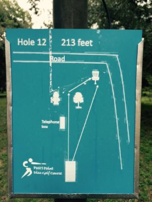 Anderson Pond, Main course, Hole 12 Hole sign