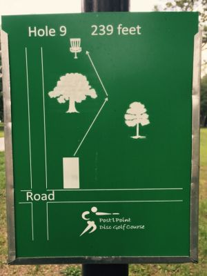 Anderson Pond, Main course, Hole 9 Hole sign