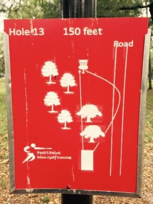 Anderson Pond, Main course, Hole 13 Hole sign