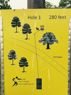 Anderson Pond, Main course, Hole 1 Hole sign