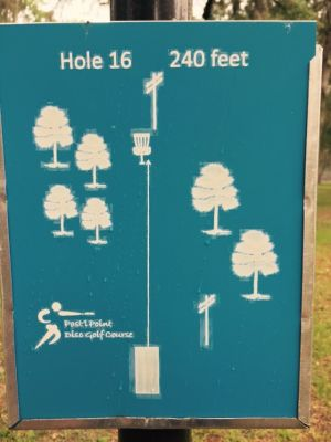 Anderson Pond, Main course, Hole 16 Hole sign