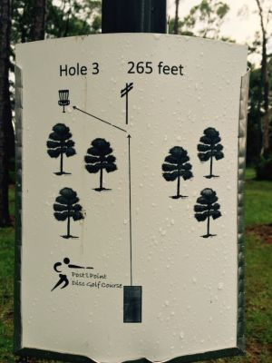 Anderson Pond, Main course, Hole 3 Hole sign