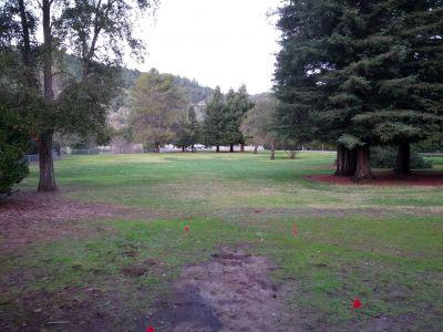 Lake Sonoma, Main course, Hole 9 Tee pad