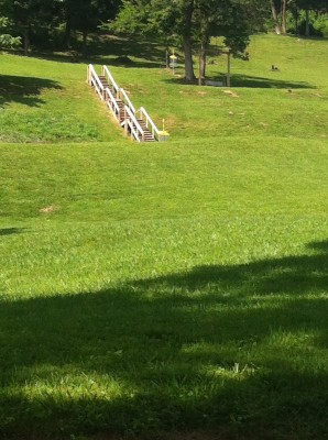Redeemer Park, Main course, Hole 9 Tee pad