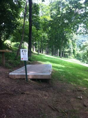 Redeemer Park, Main course, Hole 13 Tee pad