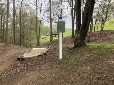 Redeemer Park, Blue course, Hole 3 Tee pad