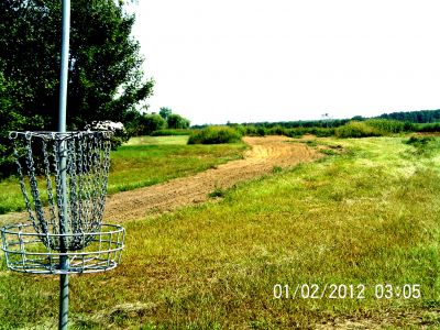 Ettyville DGC, Main course, Hole 14 Reverse (back up the fairway)