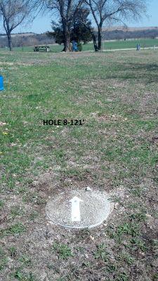 Dechairo Park, Main course, Hole 8 Tee pad