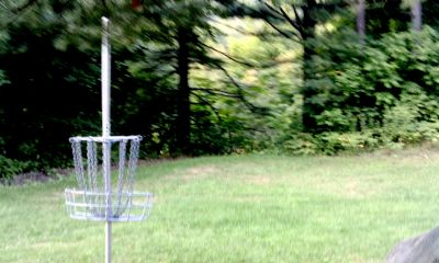 Camp Fortune Aerial DGC, Main course, Hole 5 Reverse (back up the fairway)