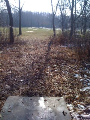 Dretzka Park, Winter course, Hole 14 Tee pad