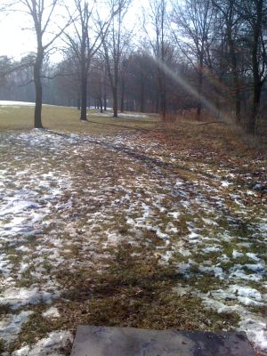 Dretzka Park, Winter course, Hole 16 Tee pad