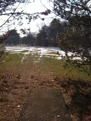 Dretzka Park, Winter course, Hole 20 Tee pad