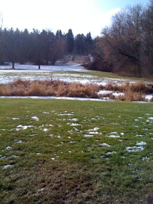 Dretzka Park, Winter course, Hole 18 Tee pad