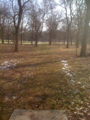Dretzka Park, Winter course, Hole 11 Tee pad