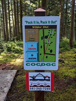 Wilder DGC, Main course, Hole 6 Hole sign
