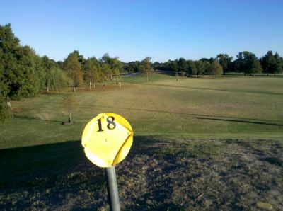 Lafreniere Park, Main course, Hole 18 Hole sign
