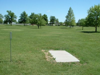 Wheatland Park, Main course, Hole 7 Tee pad