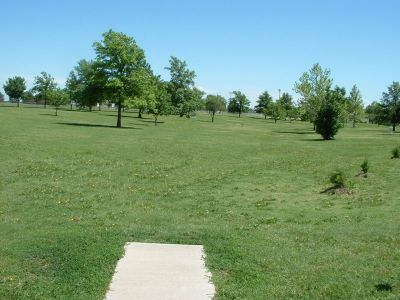 Wheatland Park, Main course, Hole 6 Tee pad
