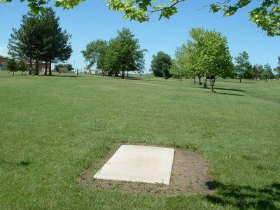 Wheatland Park, Main course, Hole 8 Tee pad